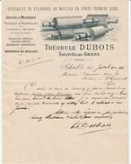 Somme - Salouel Les Amiens - Théodule Dubois - Cylindres De Moulins En Fonte - Mécanique - Meunerie - 1900 - 1900 – 1949