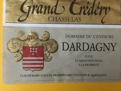 5061 - Grand Crédéry Chasselas Domaine Du Centaure  Claude Ramu Dardagny Suisse - Etiquettes