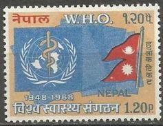 Nepal - 1968 World Health Organisation 1.20r MNH **   Sc 210 - Nepal