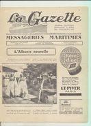 """Rare : La Gazette Des Messageries Maritimes Voyage Du 11 Février 1929 Sur Le Paquebot """"Lotus"""" - Collezioni"""