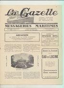 """Rare : La Gazette Des Messageries Maritimes Voyage Du 12 Février 1929 Sur Le Paquebot """"Lotus"""" - Collezioni"""