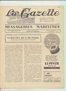 """Rare : La Gazette Des Messageries Maritimes Voyage Du 17 Février 1929 Sur Le Paquebot """"Lotus"""" - Collezioni"""