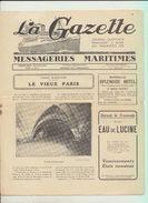 """Rare : La Gazette Des Messageries Maritimes Voyage Du 19 Février 1929 Sur Le Paquebot """"Lotus"""" - Collezioni"""
