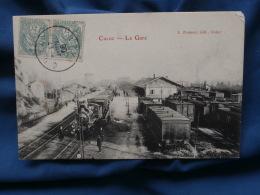 Curloz  La Gare - Locomotivs, Trains - Animée - Ed. Zimmer - Circulée 1908 - R153 - Otros Municipios
