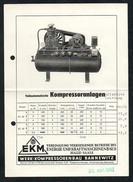 A6540 - Alter Beleg - EKM - Energie Und Kraftmaschinenbau Halle - Bannewitz - Kompressoranlage Kompressor - Tools