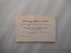PARIS XXe MARCEL OZIAU CONSTRUCTEUR MECANICIEN MACHINES & OUTILLAGE POUR LA CHAUSSURE 74bis RUE DU SURMELIN CARTE - 1900 – 1949