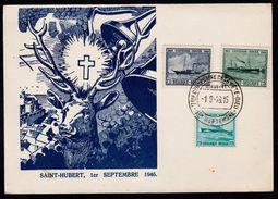 PZ TP N° 725/727 OBLITERATION TEMPORAIRE SAINT HUBERT 7e CENTENAIRE DE LA FETE DIEU  1-9-1946 - Postmark Collection