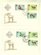 BULGARIA 1967 FAUNA Forest Animals HUNT - 2 FDC - FDC