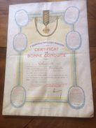 Militaria-1er Régiment De Tirailleurs Marocains CERTIFICAT De BONNE CONDUITE 25 11 1921 (Bousquet Né à La Roche Chalais) - Documenti