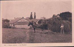 Ferme Vaudoise, La Fenaison, Attelage De 2 Chevaux (345) - Fermes