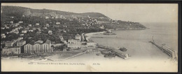 Nice (06) - CARTE PANORAMIQUE -Panorama Sur Le Port Et Le Mont Boron, Vue Prise Du Château - Ed. Neurdein ND Phot. 1717 - Multi-vues, Vues Panoramiques