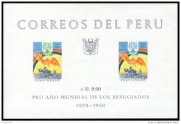 Peru, 1960, World Refugee Year, MNH Imperforated Sheet, Michel Block 3 - Peru