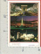 CARTOLINA NV FRANCIA - PARIS - Ville Lumiere - Nuit - Multivue - 10 X 15 - Viste Panoramiche, Panorama