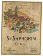 Rare // St.Saphorin,les Fosses,Georges Imhof Vigneronà Rivaz Vaud // Suisse - Etiquettes