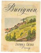 Rare // Burignon, Jaton & Gétaz Vevey, Vaud // Suisse - Etiquettes