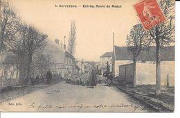 """77 VARREDDES BELLE CPA 1907 """"ENTRéE ET ROUTE DE MEAUX"""" (TROUPEAU DE MOUTONS) - Sonstige Gemeinden"""