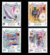 EMIRATOS ARABES UNIDOS 1992 - UNITED ARAB EMIRATES - OLYMPICS BARCELONA 92  YVERT 358/361  MICHEL 374/377  SCOTT 393/396 - Ciclismo