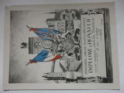 Association Amicale Franco-Britannique, Diplome D'honneur Décerné à Mme Mathilde Decatoire 81, Rue D'Artois à Lille (59) - Diplômes & Bulletins Scolaires