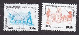 Cambodia, Scott #1963, 2093, Used, Harrowing, Kravan, Issued 2000-2001 - Cambodia