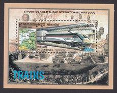 Cambodia, Scott #1975, Mint Hinged, Locomotives, Issued 2000 - Cambodia