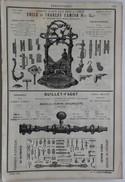 PUB 1885 - Ferronnerie E & Ch Camion à Vrigne Aux Bois, Guillet à Vivier Au Court, CLOU à Aiglemont, Bride à Nouzon 08 - Advertising