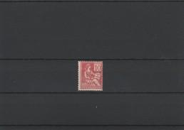 N° 116** Type2   Mouchon Piquage A Droite état Parfait .gomme D'origine - France