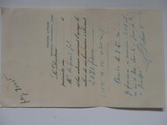 Facture Du Docteur Litaud De Bourbon-l'Archambault à Mr De Grandpré à Agonges (01). - 1900 – 1949