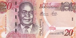 BILLETE DE BOTSWANA DE 20 PULA DEL AÑO 2010 SERIE AH CALIDAD EBC (XF) (BANKNOTE) - Botswana