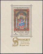 Czechoslovakia / Stamps (1967) 1613 A: Prague Castle - Illuminated Handwriting; Painter: Josef Hercik - Languages