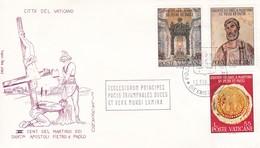 Vatikan FDC/ET 1967 Mi: 523 + 525 + 526. 1900.Jahrestag Der Martyrien Der Heiligen Peter Und Paul. - Christianisme