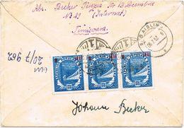 25409. Carta Certificada TIMISOARA (Rumania) 1952 A Aibling Zona U.S. Ocupation - Covers & Documents