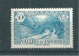 Andorre Francais Timbres De 1937/43  N°92  Neuf * - Ungebraucht