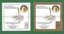 2016 BAHRAIN - GCC Supreme Council Summit 2v MNH ** - As Scan - Bahreïn (1965-...)