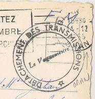 ORAN Algèrie, DETACHEMENT DES TRANSMISSIONS. 1955. - Marcophilie (Lettres)