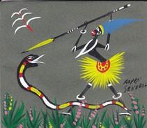 SENEGAL Chasse De Serpent--( Carte Double Peinte KOYEN ?  SENEGAL---voir 2 Scans - Cartes