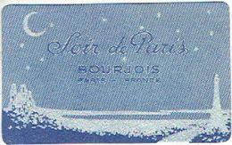 """Carte Parfum  -  BOURJOIS - SOIR DE PARIS  - """"Palais De La Femme"""" Parfumerie & Fines Lingeries à SPA - Perfume Cards"""