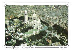 PARIS - LE SACRE COEUR - 434 - VUE AERIENNE - VIAGGIATA 1988 -  (1906) - Sacré Coeur