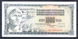 460-Yougouslavie Billet De 1000 Dinara 1981 CC455 Neuf - Yugoslavia