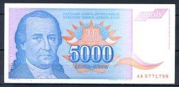 460-Yougouslavie Billet De 5000 Dinara 1994 AA571 - Yougoslavie
