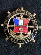 Ancien Insigne émaillé Transport Hadrumet 1943 - 1946   Ins6 - Marine