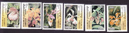 Cambodia, Scott #1983-1988, Mint Hinged, Orchids, Issued 2000 - Cambodia