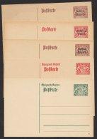 Ganzsache, 5 Verschiedene Dienstpostkarten, * - Bayern