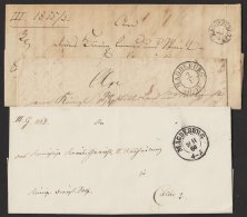 "Vorphila:"" Magdeburg"", 3 Belege Aus 1834/66, Verschiedene Stempeltypen, Brief - Preussen"