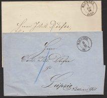 """""""Bautzen"""", 2 Briefhüllen ,mit Verschiedenen K2 Aus 1860, 1864, Brief - Sachsen"""