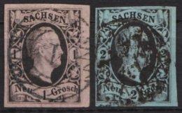 """"""" August II"""", 2 Verschiedene Werte, O - Sachsen"""