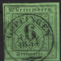 """Zentriert. Gestempelt, """"Göppingen"""", O - Wuerttemberg"""