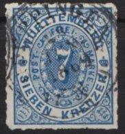 Zentriert, Gestempelt, O - Wuerttemberg