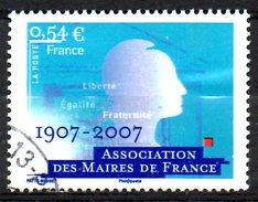 FRANCE. N°4077 De 2007 Oblitéré. Association Des Maires De France. - France