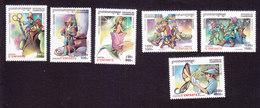 Cambodia, Scott #1990-1995, Mint Hinged, Children's Stories, Issued 2000 - Cambodge
