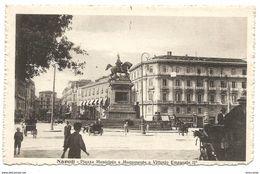 NAPOLI - PIAZZA MUNICIPIO E MONUMENTO A VITTORIO EMANUELE II° - Animata - Ed. D. Trampetti - Napoli
